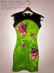 wednesday wardrobe neon rose